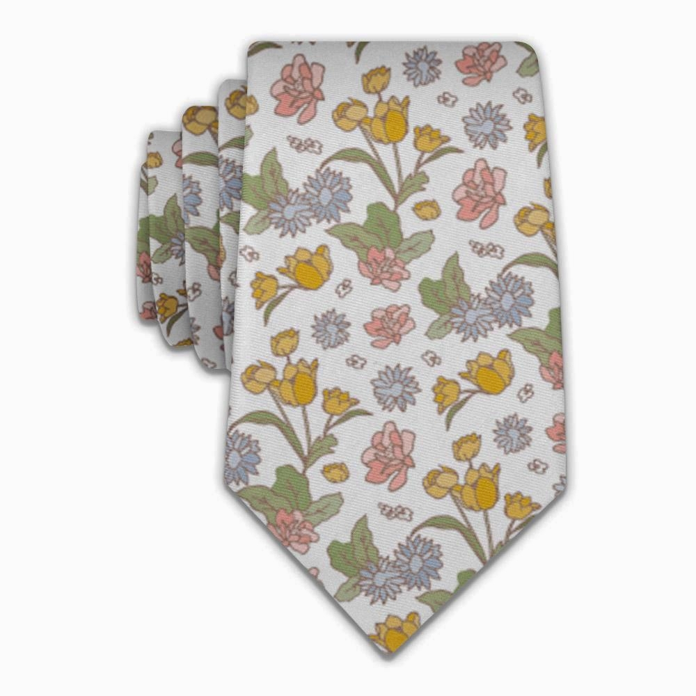 Clara Floral Necktie   Knotty Tie Co. // Refugee-Made Goods Supporting Displaced Artisans Around The World on The Good Trade