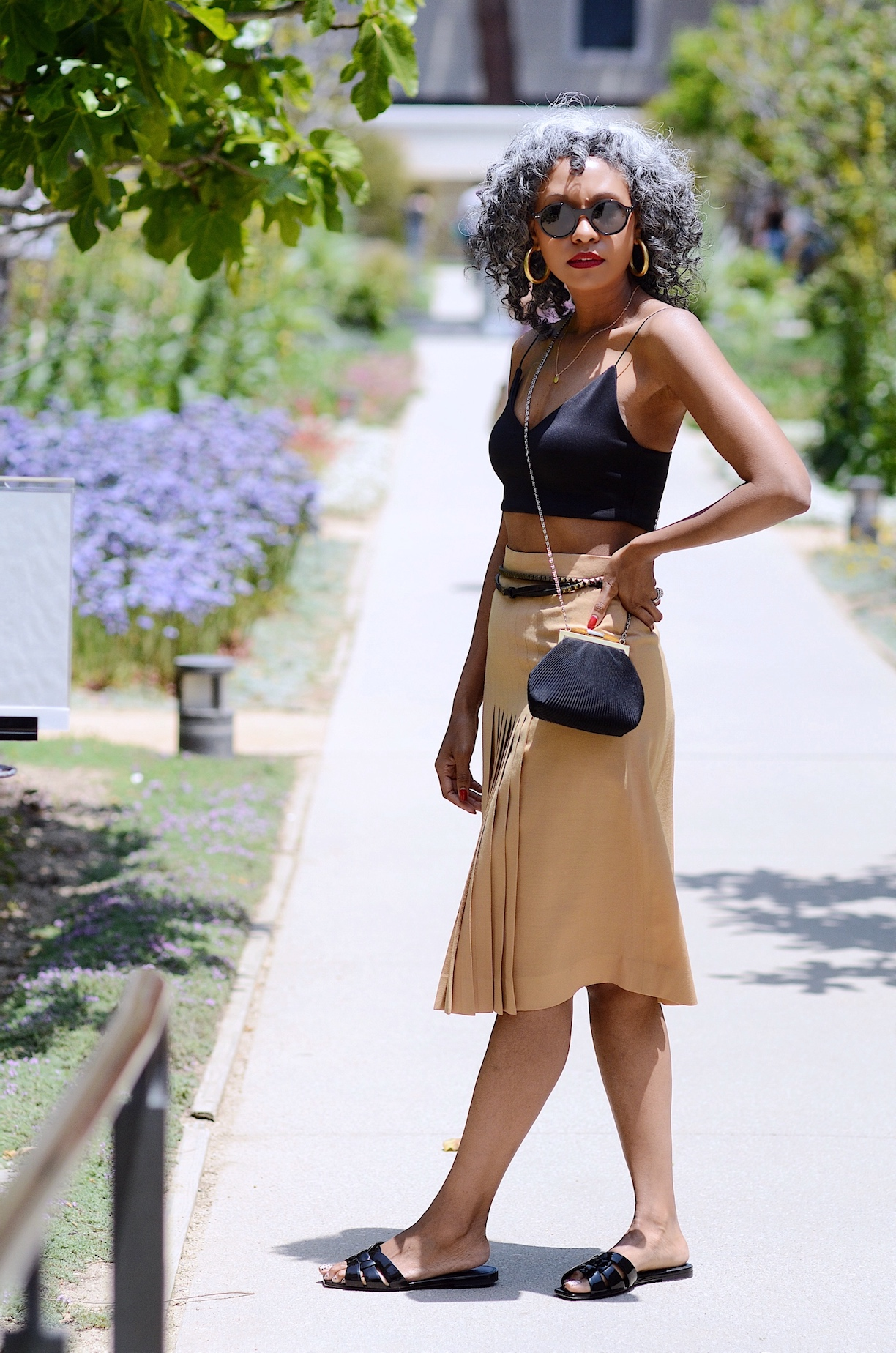 Vintage Christian Dior skirt and tank top // A Week Of Sophisticated Slow Fashion Outfits With Tennille Murphy From The Tennille Life on The Good Trade