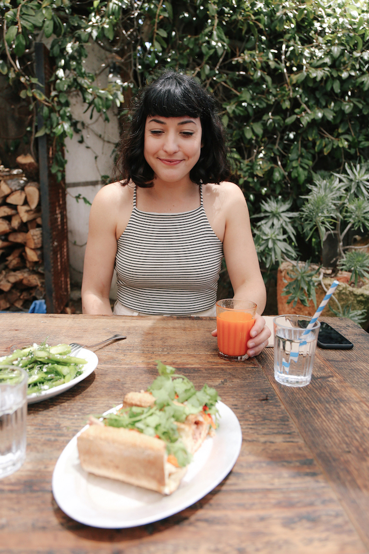 Sustainable bodysuit outfit // A Week Of Made-In-LA Outfits With Rachel Temko, Founder Of Whimsy + Row on The Good Trade