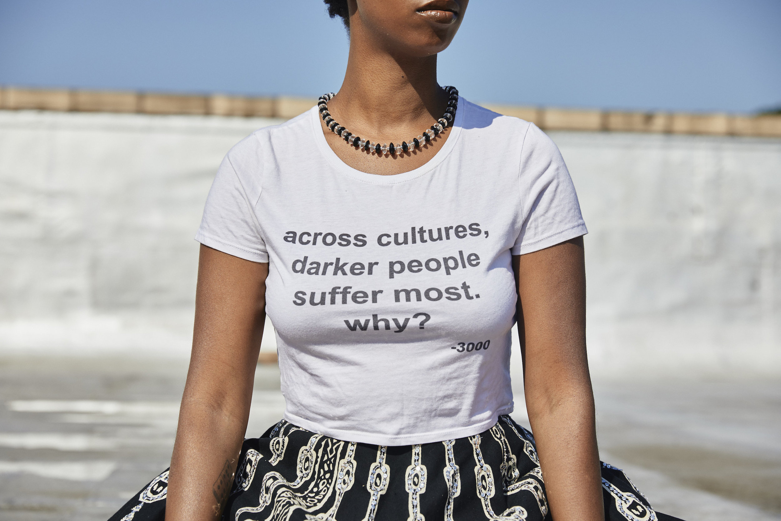 Andre 3000 quote crop top // A Week Of Outfits With Dominique Drakeford, Founder Of Melanin & Sustainable Style on The Good Trade