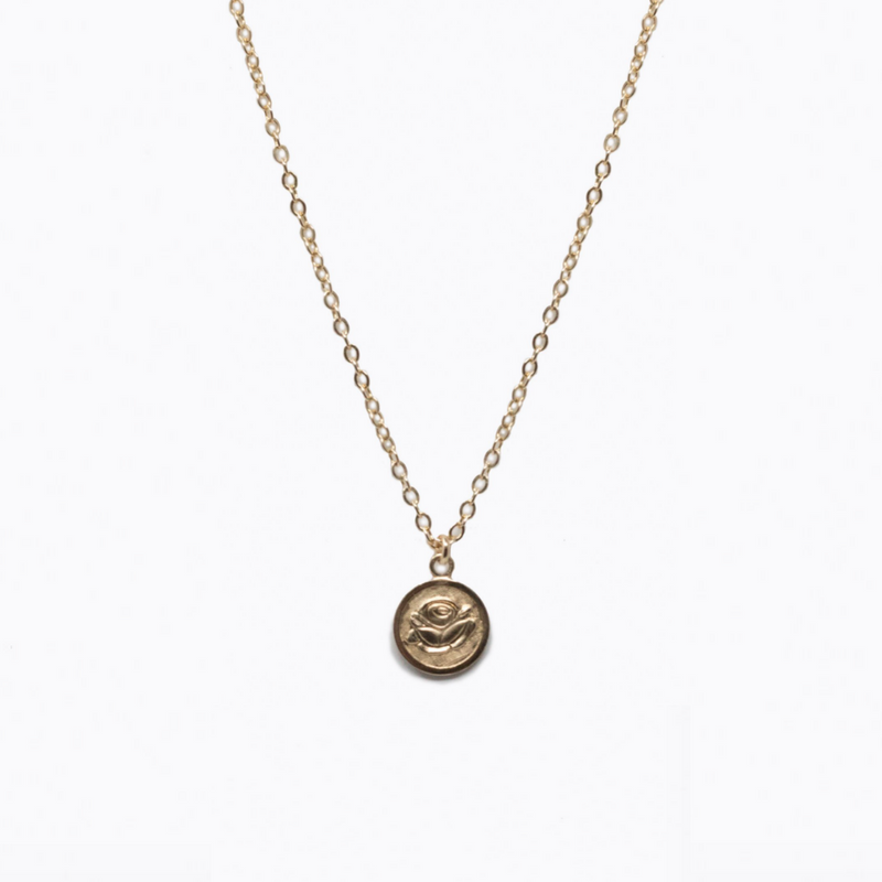 Rose Necklace by ABLE | Responsibly-Made Coin Necklaces on The Good Trade