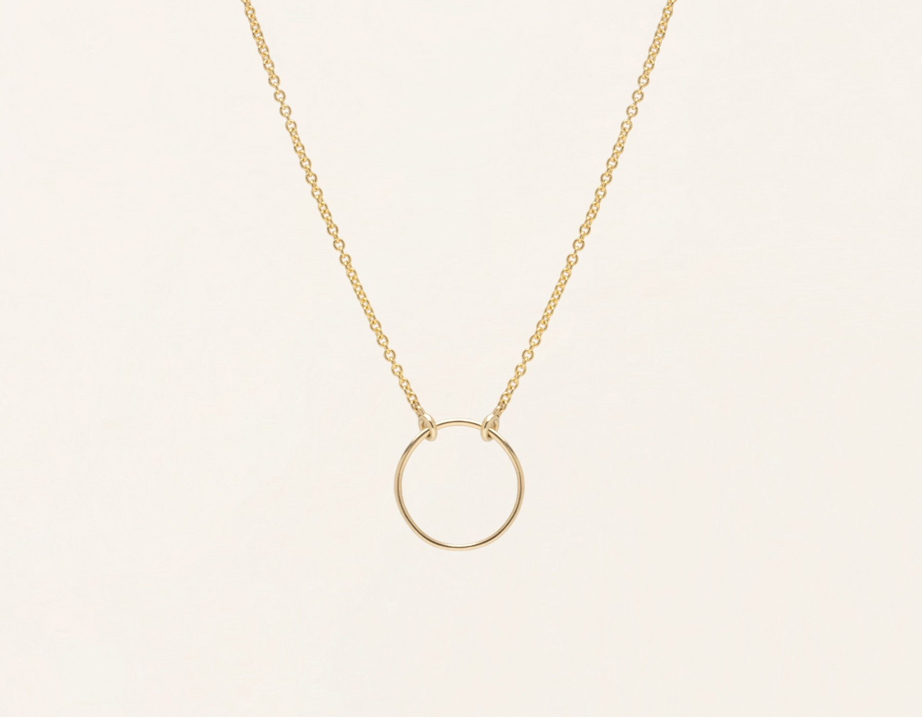 Circle Necklace by Vrai & Oro | Responsibly-Made Coin Necklaces on The Good Trade