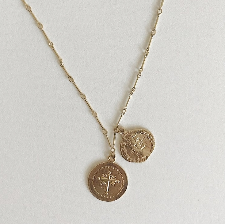 Martine Necklace by Hadley Frances | Responsibly-Made Coin Necklaces On The Good Trade