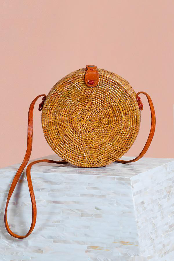 Round Rattan Bag by Boho Bags | Ethically-Made Woven Circle Bags on 网站名称