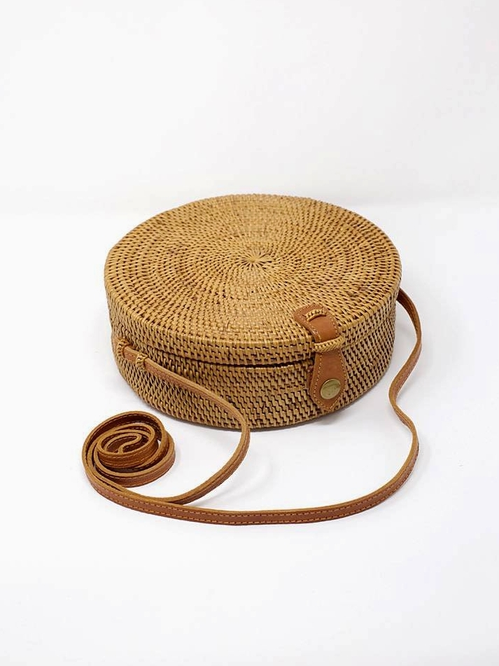 Atta Moon Woven Purse by HumanKind Fair Trade | Ethically-Made Woven Circle Bags on 网站名称