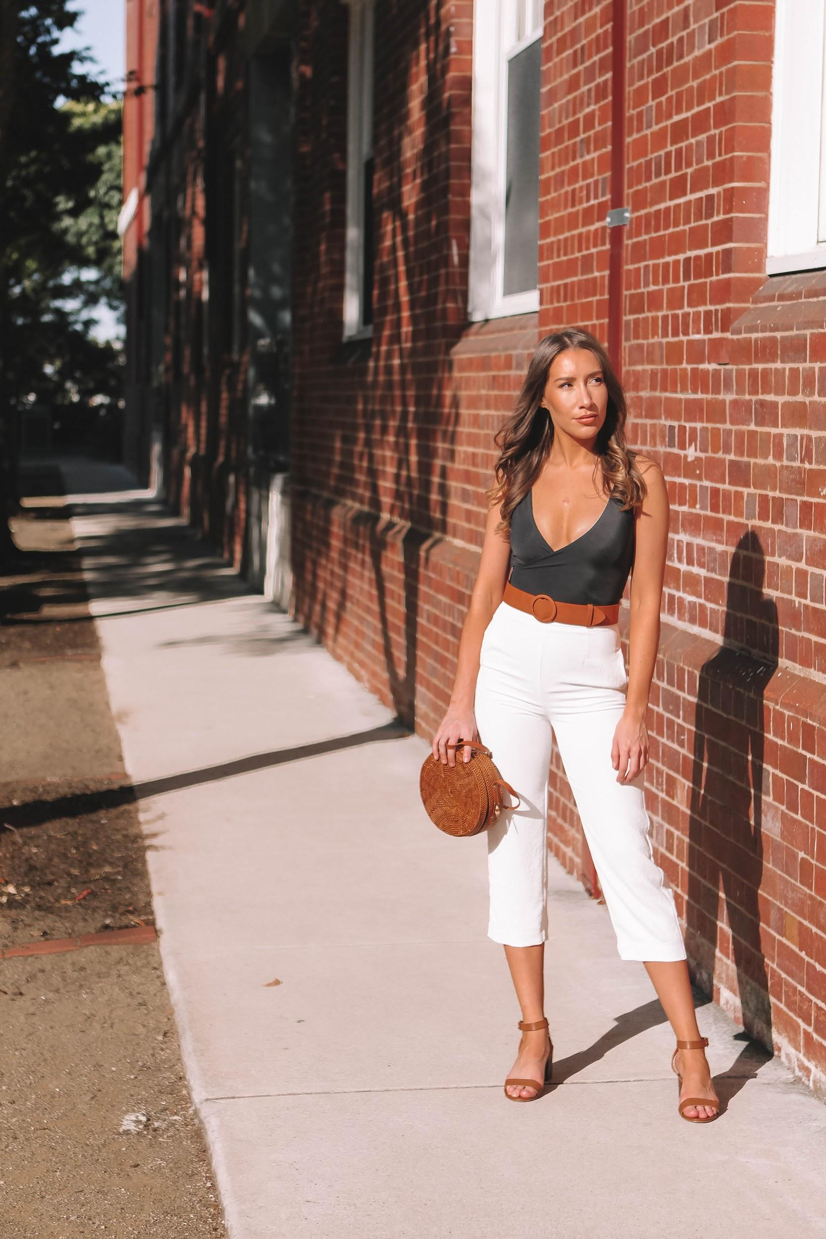 Black, white, and brown outfit | A Week Of Consciously Curated Outfits With Amber Boyers, Founder Of BAIIA And The Conscious Cut on The Good Trade
