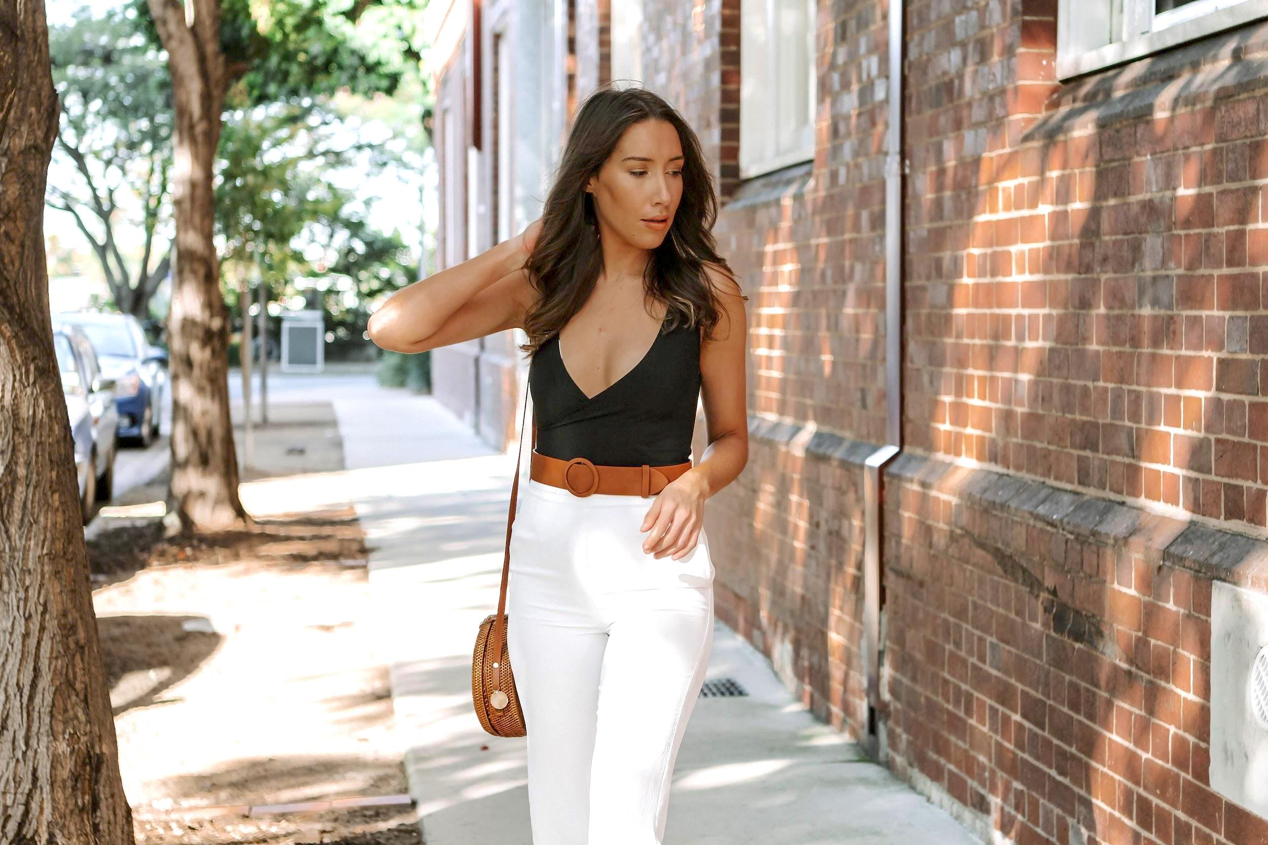 Swimswuit as a top outfit | A Week Of Consciously Curated Outfits With Amber, Founder Of BAIIA And The Conscious Cut on The Good Trade