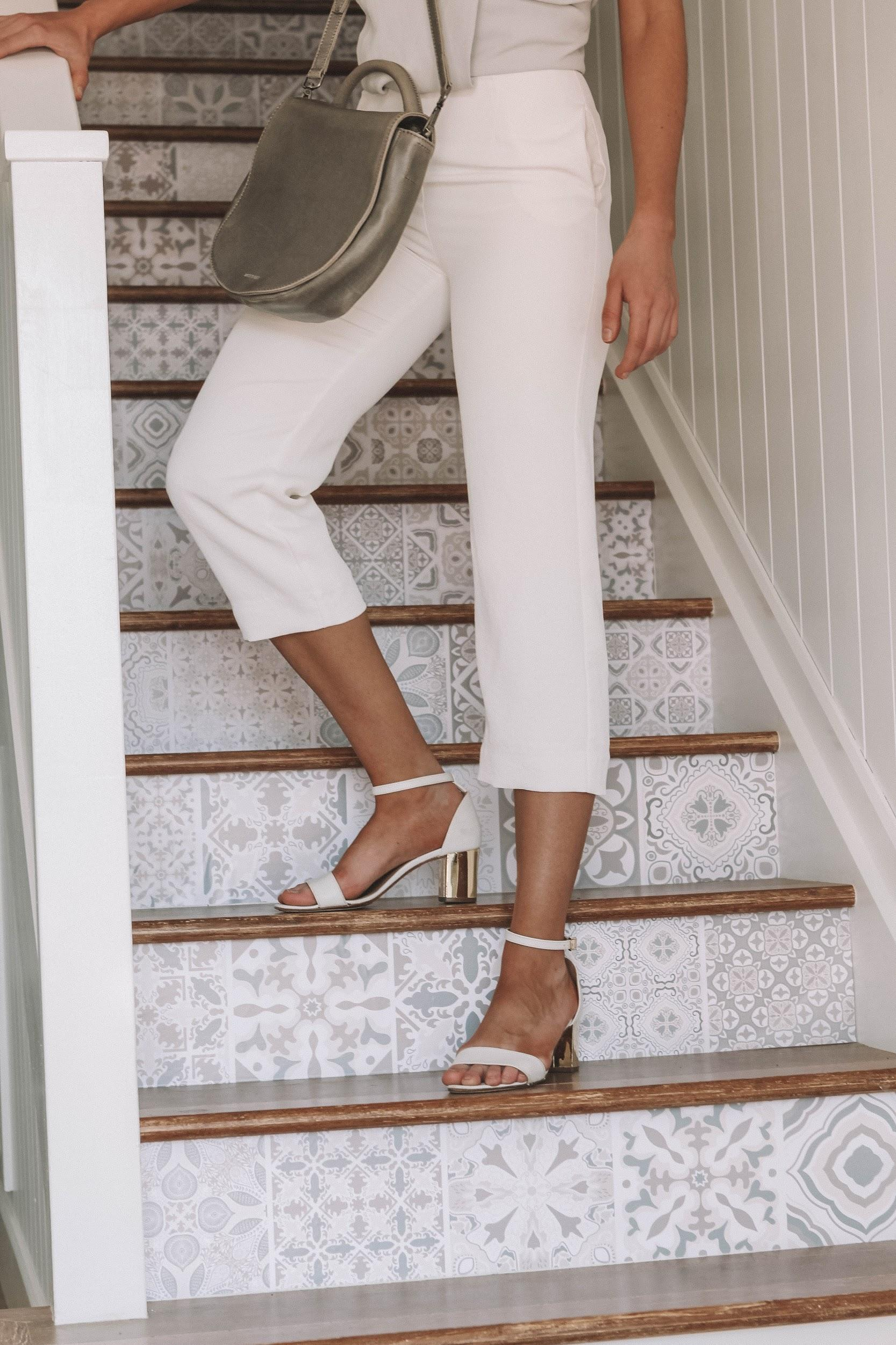 All white outfit | A Week Of Consciously Curated Outfits With Amber, Founder Of BAIIA And The Conscious Cut on The Good Trade
