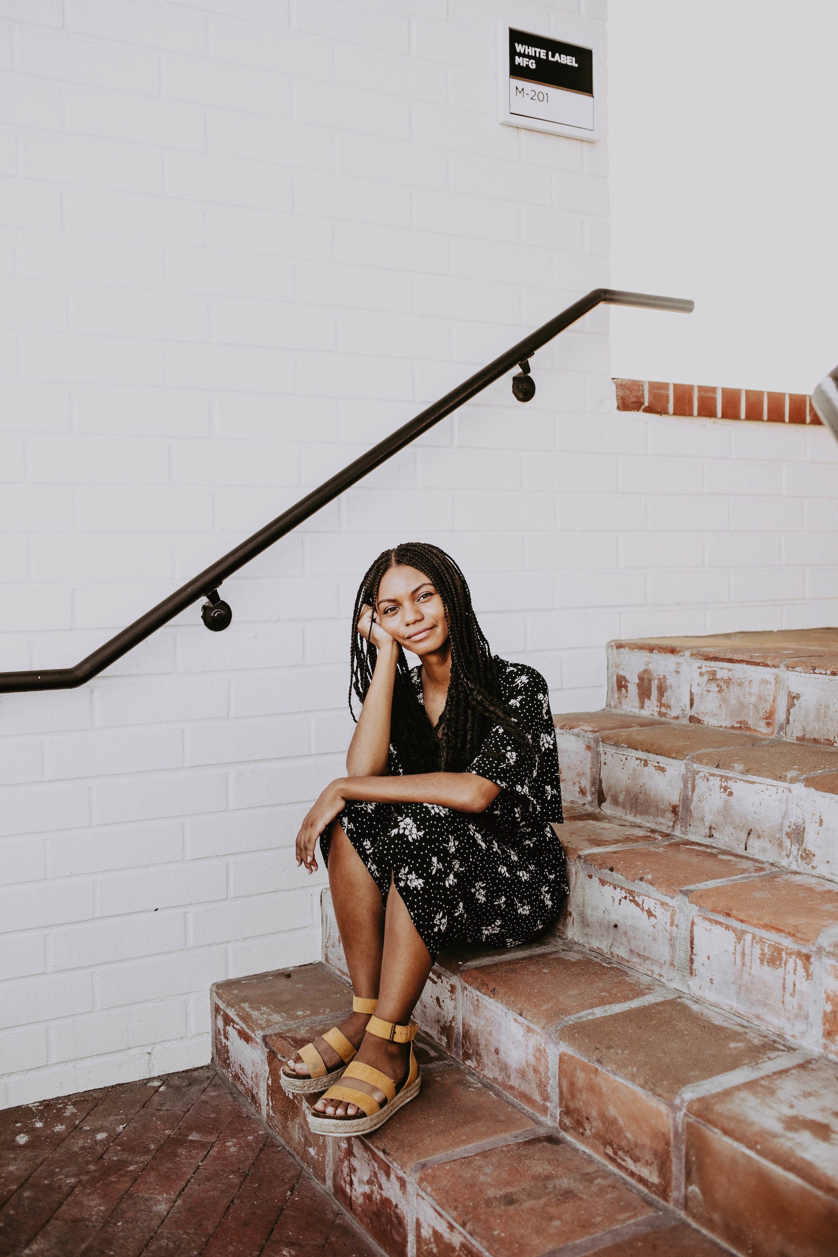 Black and white jumpsuit for fall // A Week Of 1970s-Inspired Outfits With Leah Thomas, The Sustainable Lifestyle Blogger Behind Green Girl Leah on The Good Trade