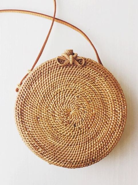 Rose Circle Bag From Bembien - Woven Circle Bags on 网站名称