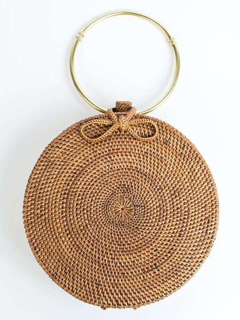 Woven Drum Bag - Metal Handle by 31 Bits | Ethically-Made Woven Circle Bags on 网站名称