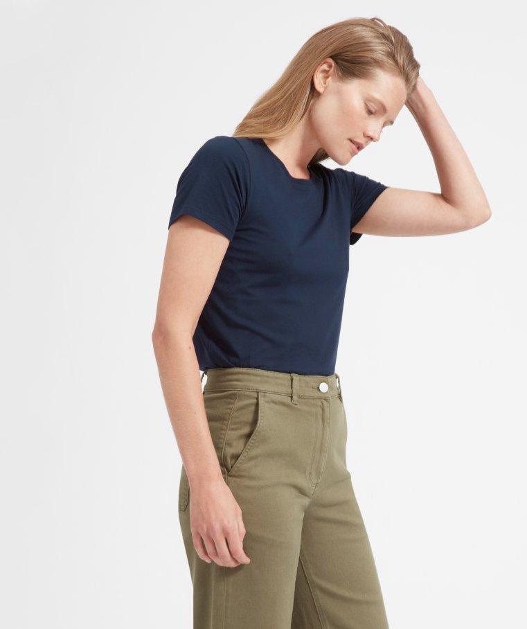 Women's Cotton Crew in Navy