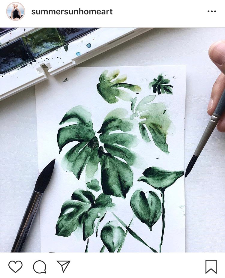 Inspiring Watercolorists To Follow On Instagram | @summersunhomeart