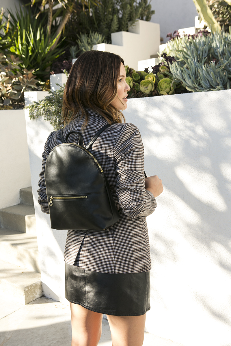 Blazer and a vegan backpack  // A Week Of Intentional & Sustainable Outfits With Kasha Cabato From Green With Style on The Good Trade