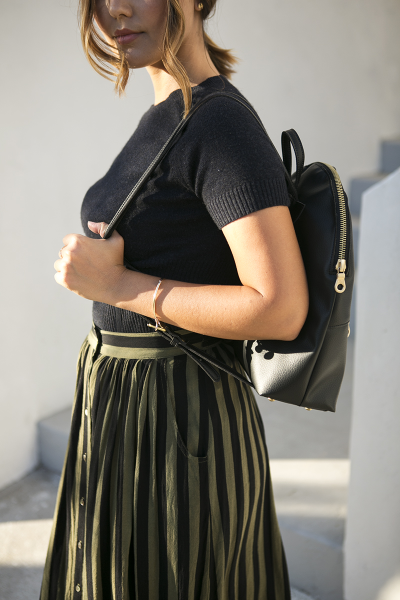 Vegan backpack  // A Week Of Intentional & Sustainable Outfits With Kasha Cabato From Green With Style on The Good Trade