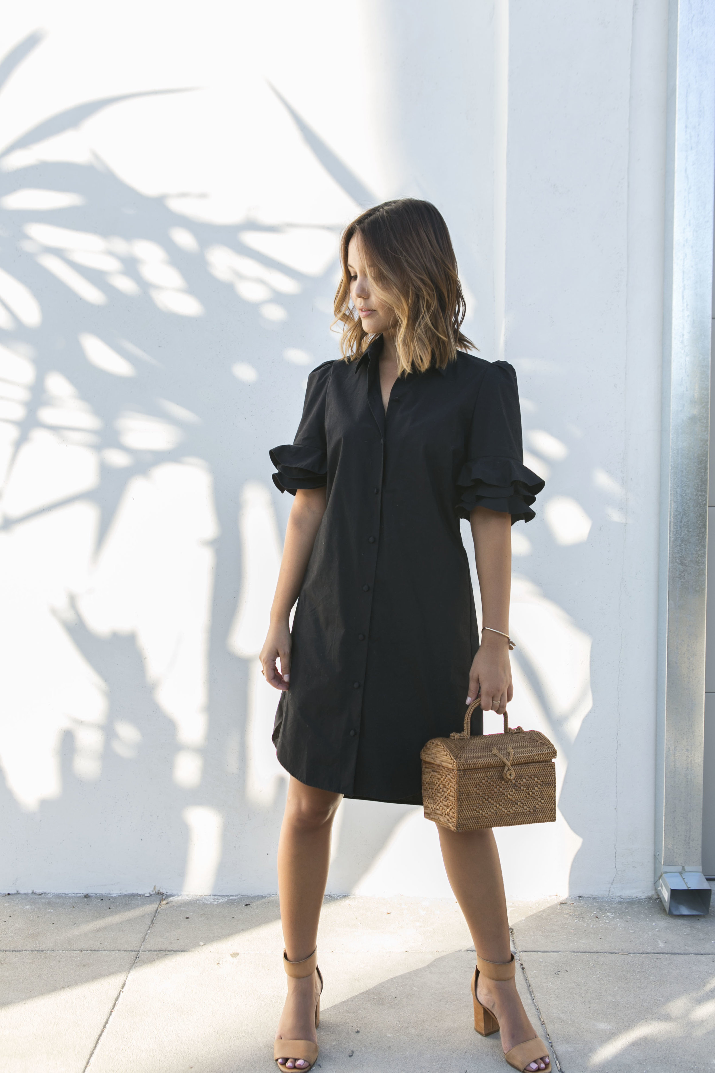 Structured silk shirtdress // A Week Of Intentional & Sustainable Outfits With Kasha Cabato From Green With Style on The Good Trade