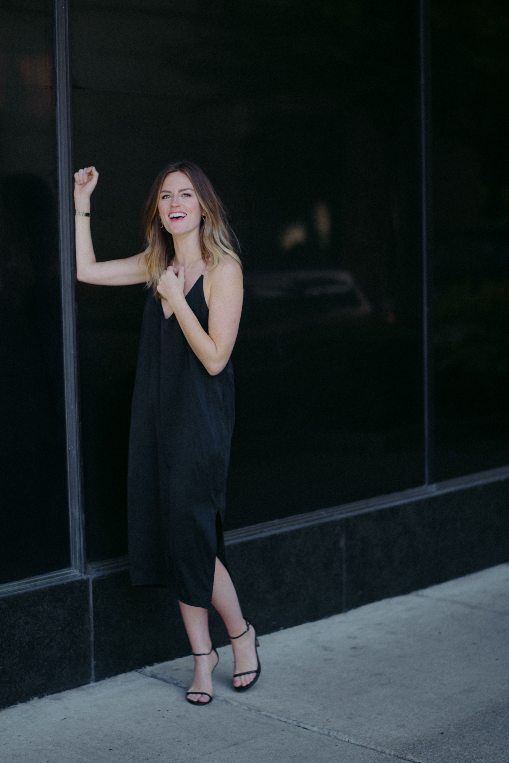 Silk dress outfit // A Week Of  Nashville-Chic Ethical Outfits With Jordan Soderholm, Fashion Director At ABLE on The Good Trade