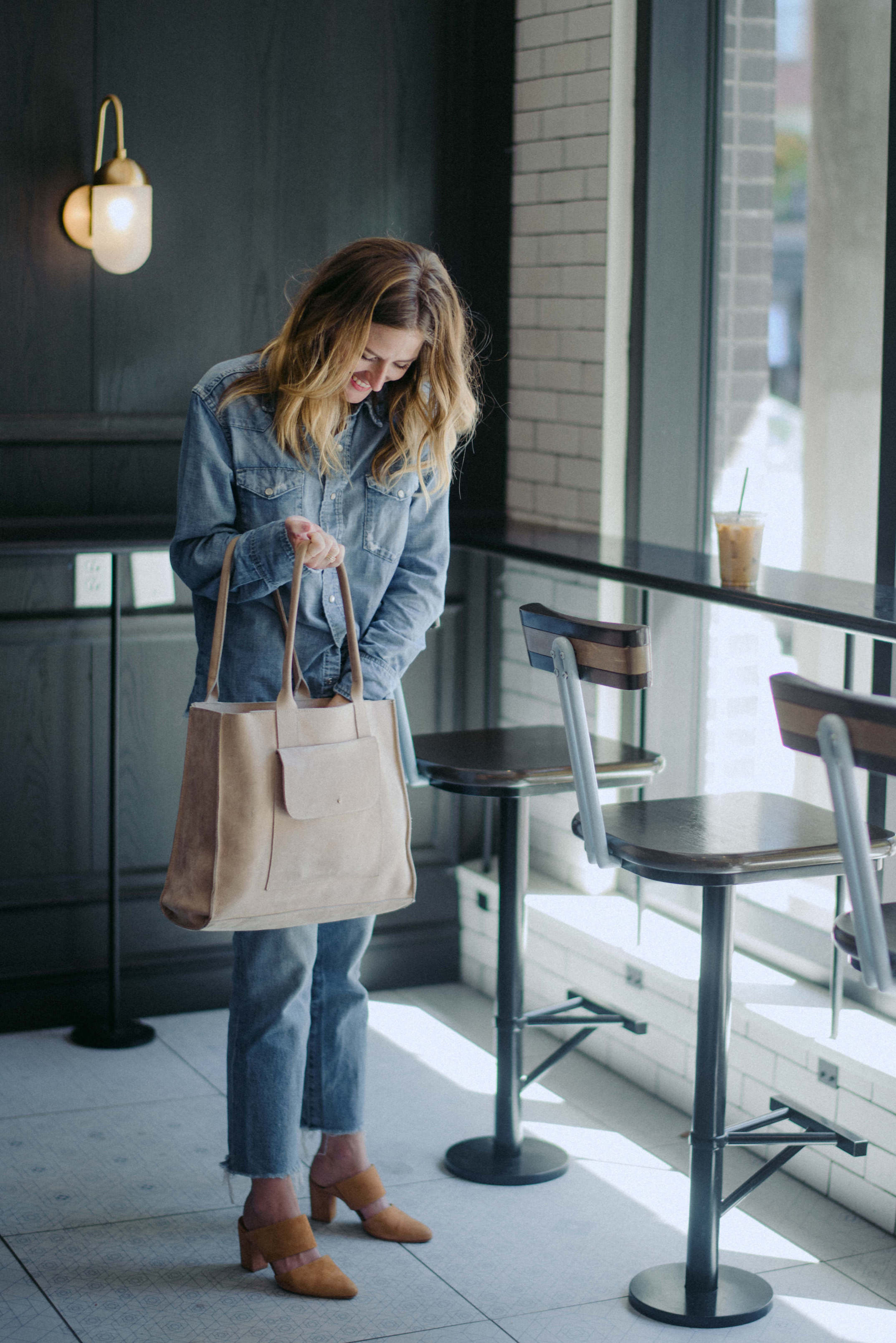 All denim outfit // A Week Of  Nashville-Chic Ethical Outfits With Jordan Soderholm, Fashion Director At ABLE on The Good Trade