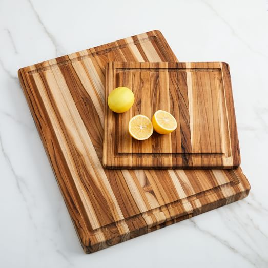 Edge-Grain Wood Cutting Board from West Elm - Zero Waste Holiday Gift Guide on The Good Trade