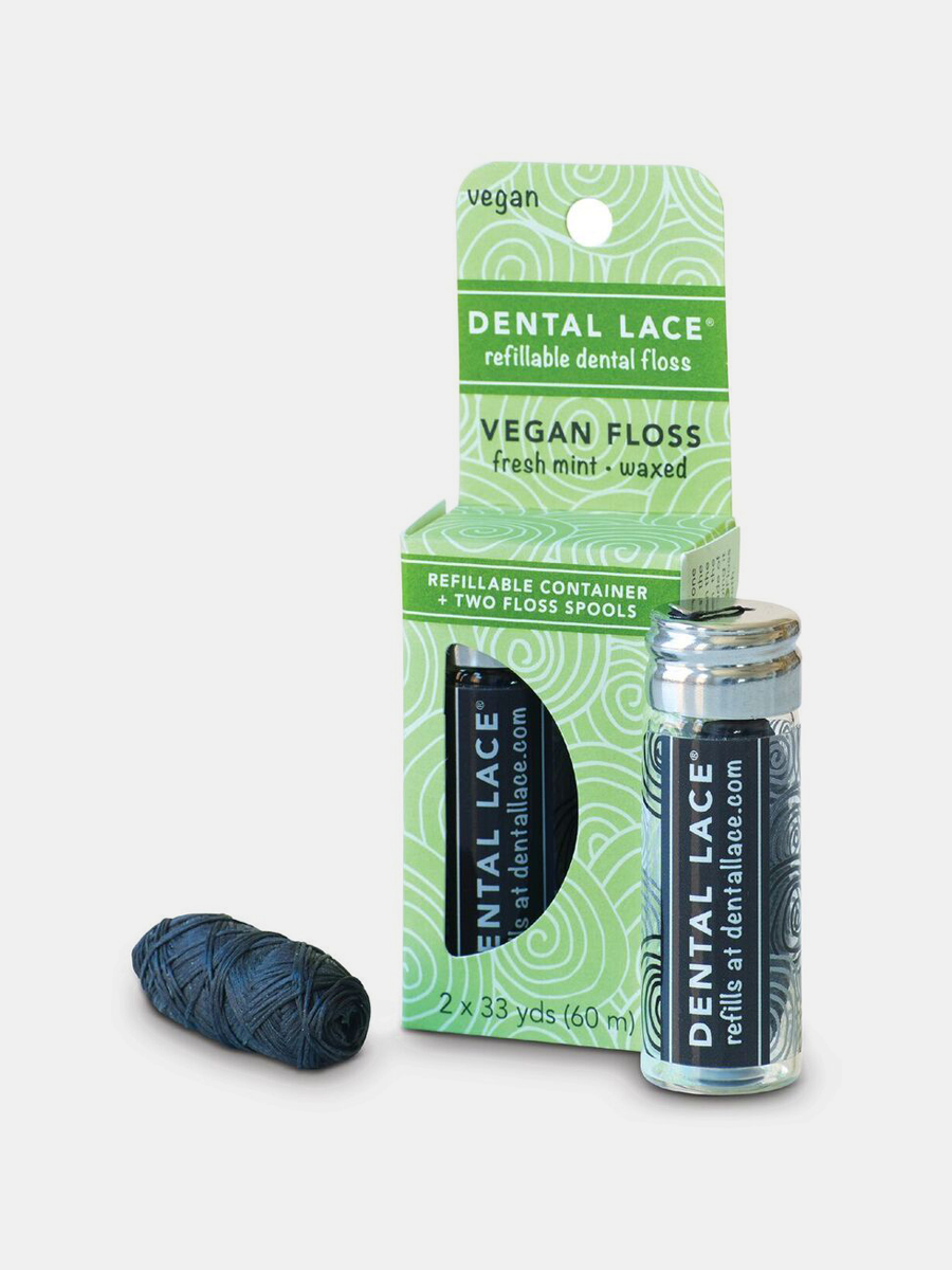 Dental Lace Vegan Refillable Floss from Dental Lace - Zero Waste Holiday Gift Guide on The Good Trade