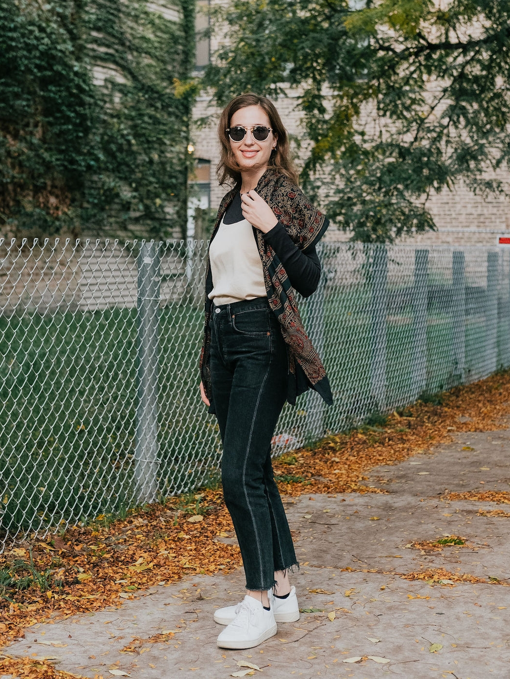 Layered outfit idea - A Week Of Ethical Outfits With Heart With Carly Gerber From Hippie + Heart on The Good Trade