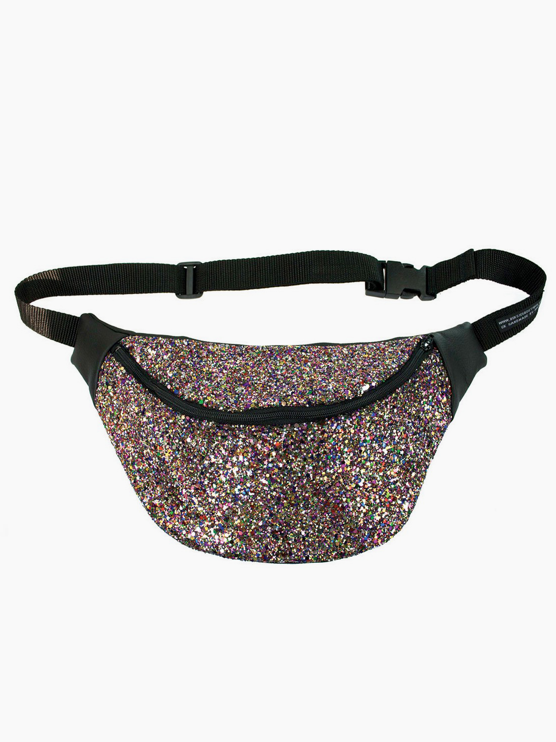 Disco Rainbow Glitter Fanny Pack from Beksie's Boutique - Sparkling Sustainable Fashion Statement Pieces on The Good Trade