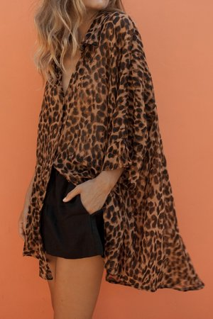 Lula Shirt from The Posse - Leopard Print Ethical Fashion on The Good Trade