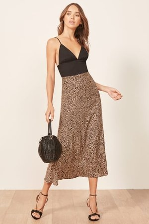 Bea Leopard Skirt from Reformation - Leopard Print Ethical Fashion on The Good Trade