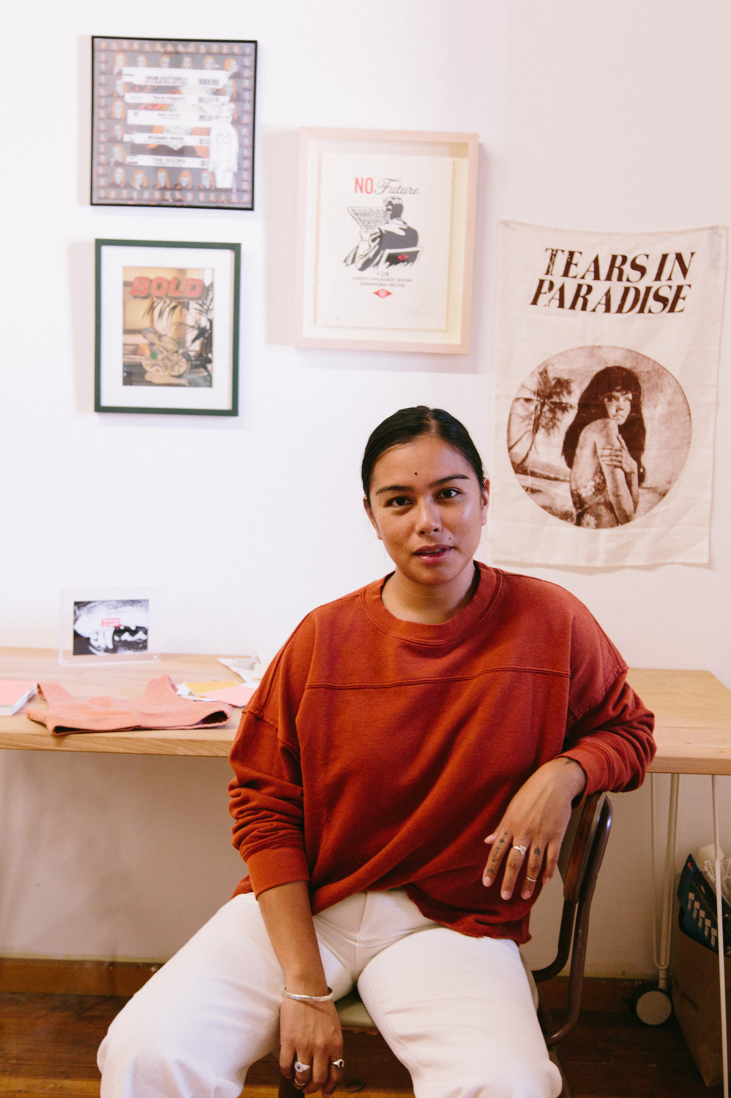 Raw hem cozy sweatshirt - A Week Of Super-Chill Conscious Fashion With Isadora Alvarez, Founder Of Back Beat Rags on The Good Trade