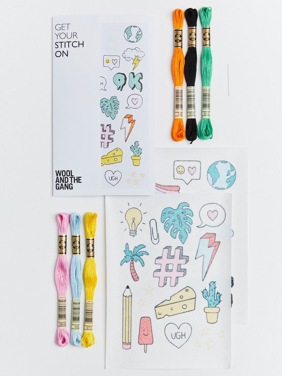 Mega Mix Embroidery Kit from Wool And The Gang - Plastic Free Gifts For Kids on The Good Trade