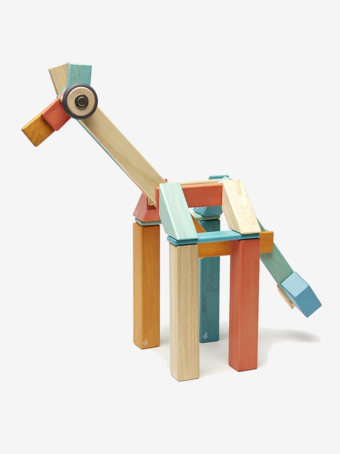 42-Piece Magnetic Block Set from Tegu - Plastic Free Gifts For Kids on The Good Trade