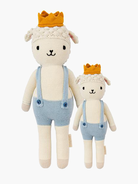 Sebastian The Lamb from cuddle+kind - Plastic Free Gifts For Kids on The Good Trade