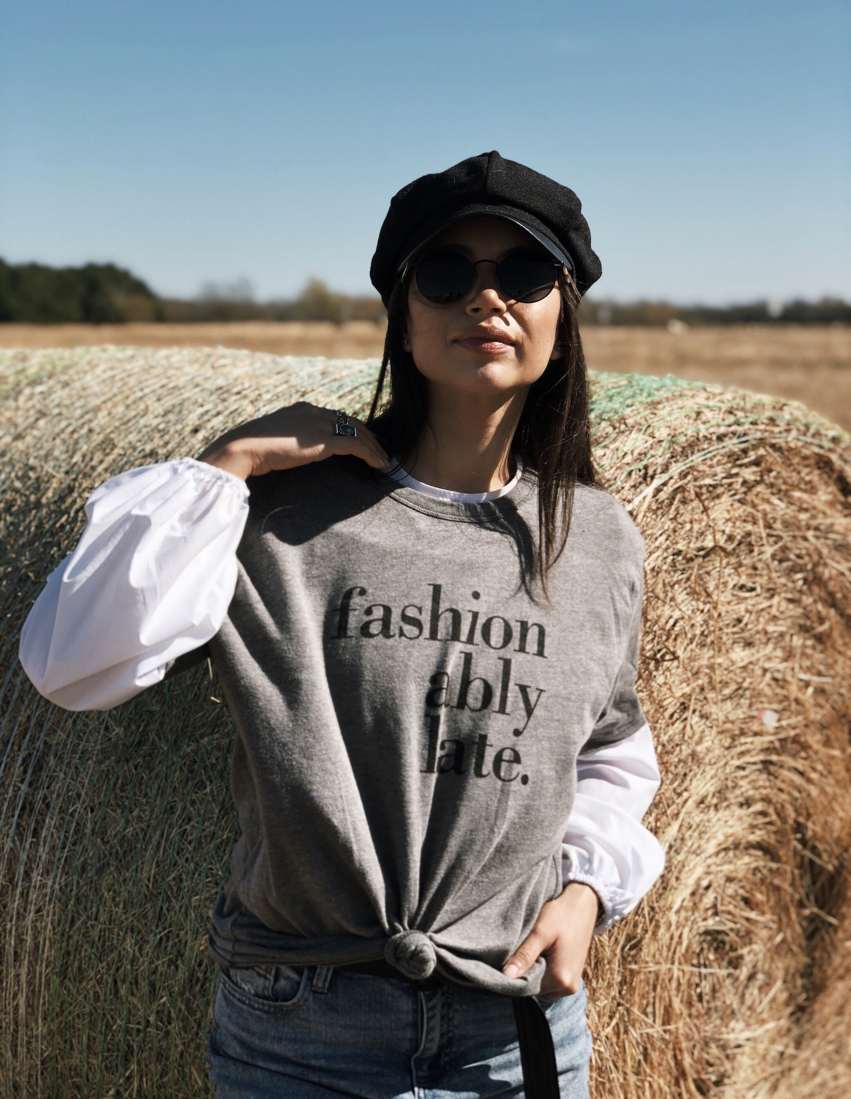 Layered t-shirt outfit - A Week Of Cruelty-Free Outfits & Vegan Beauty With Jessica Salazar From All There August on The Good Trade