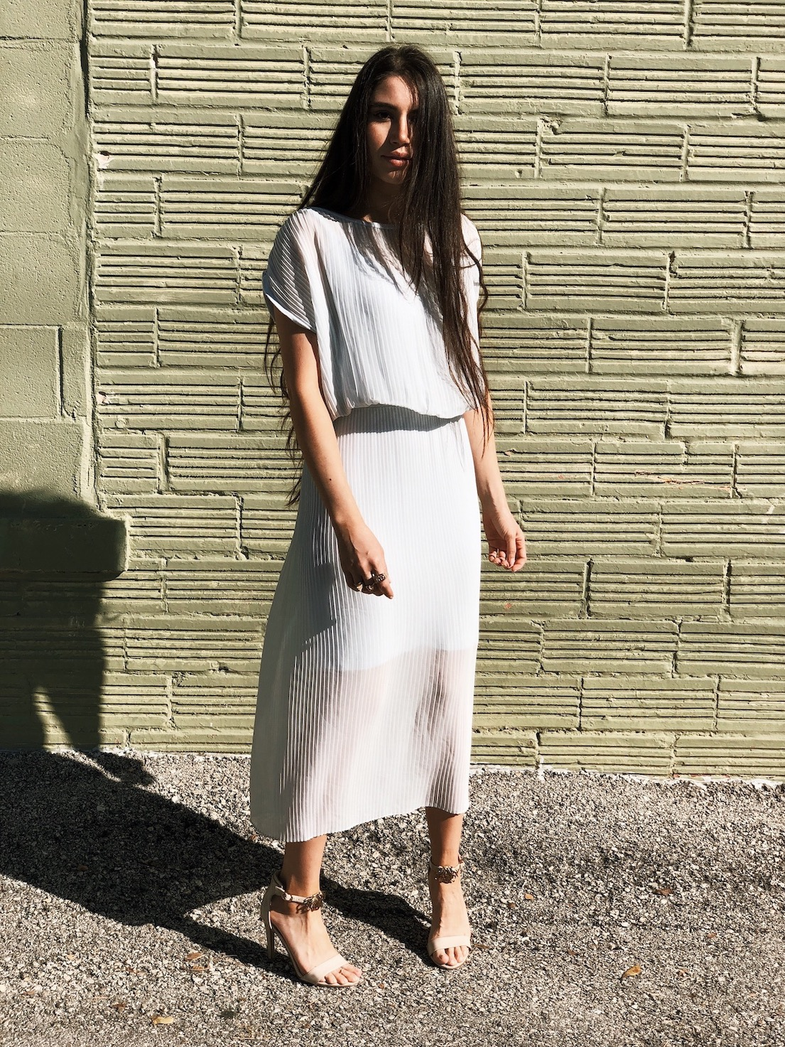 Thrifted dress - A Week Of Cruelty-Free Outfits & Vegan Beauty With Jessica Salazar From All There August on The Good Trade