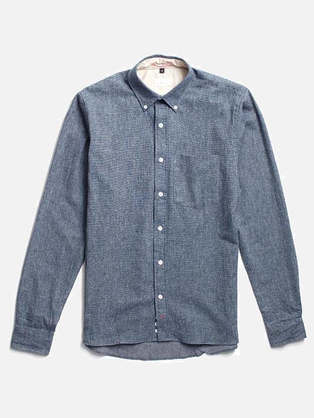 Indigo Flannel Button Down by Apolis | Men's Capsule Wardrobe on The Good Trade