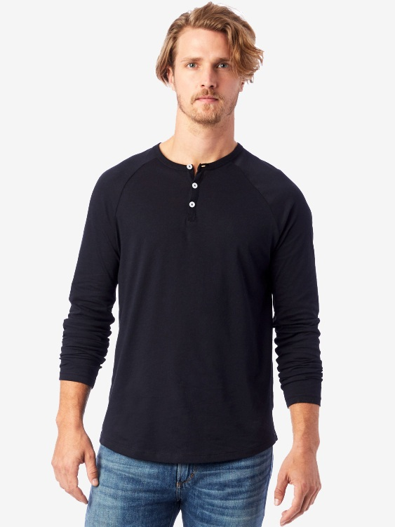 Organic Long Sleeve Henley by Alternative Apparel | Men's Capsule Wardrobe on The Good Trade