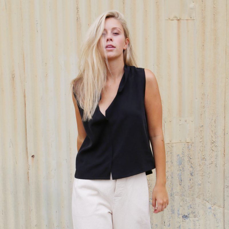 Lapel Cropped Tank by Hackwith Design House // Hollywood Outfit Inspiration - A Star Is Born