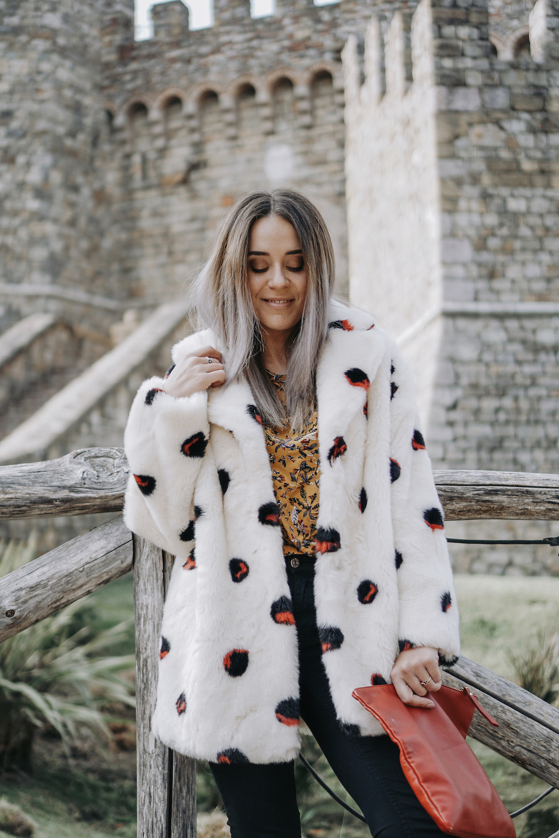 Secondhand Polka Dot Coat  // A Week Of Uncompromising Sustainable Style With Sonia Kessler From Native Styling on The Good Trade