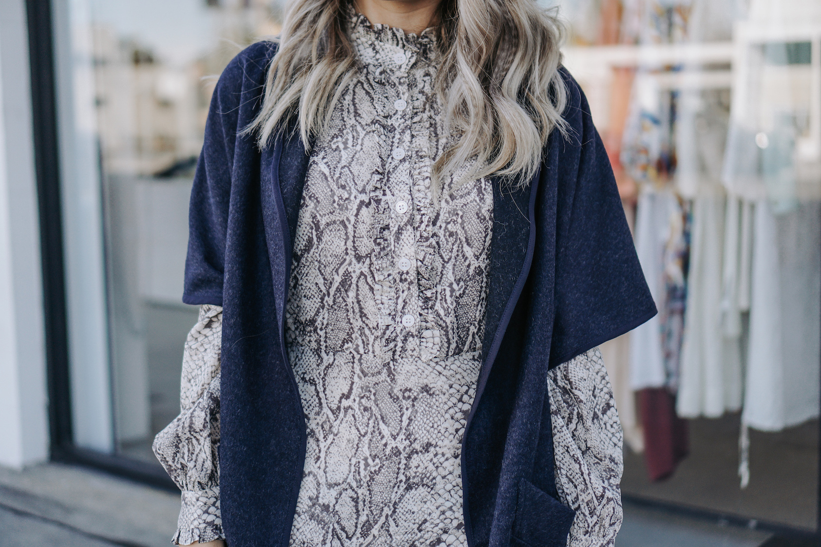 Snakeskin Print Dress // A Week Of Uncompromising Sustainable Style With Sonia Kessler From Native Styling on The Good Trade