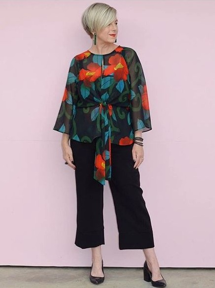Pattern Date Night Outfit Idea | Deborah Gates