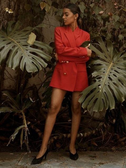 Red Blazer Date Night Outfit Inspiration | Stella Simona
