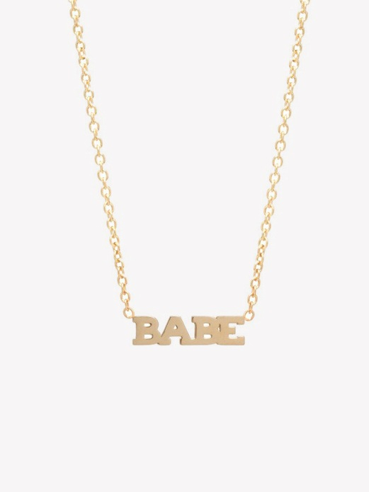 Itty Bitty Babe Necklace by Zoë Chicco // Sustainable Valentine's Day Gift Ideas on The Good Trade