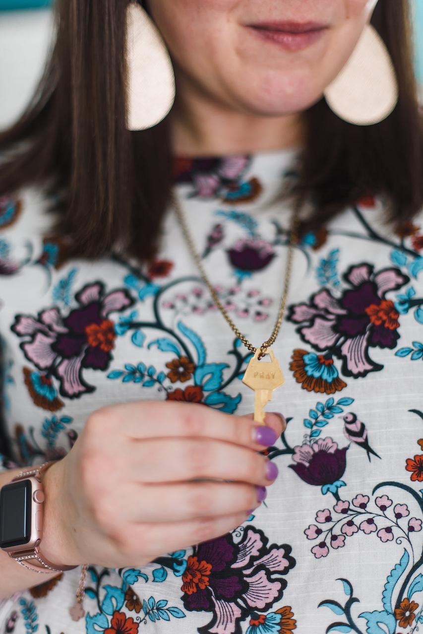 The Giving Keys necklace // A Week Of Wearing Only 7 Pieces For 7 Days With Molly Stillman From Still Being Molly on The Good Trade