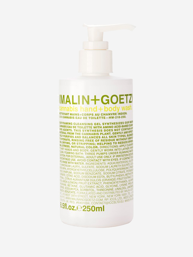 Hemp Based Beauty Products - MALIN+GOETZ Cannabis Hand + Body Wash