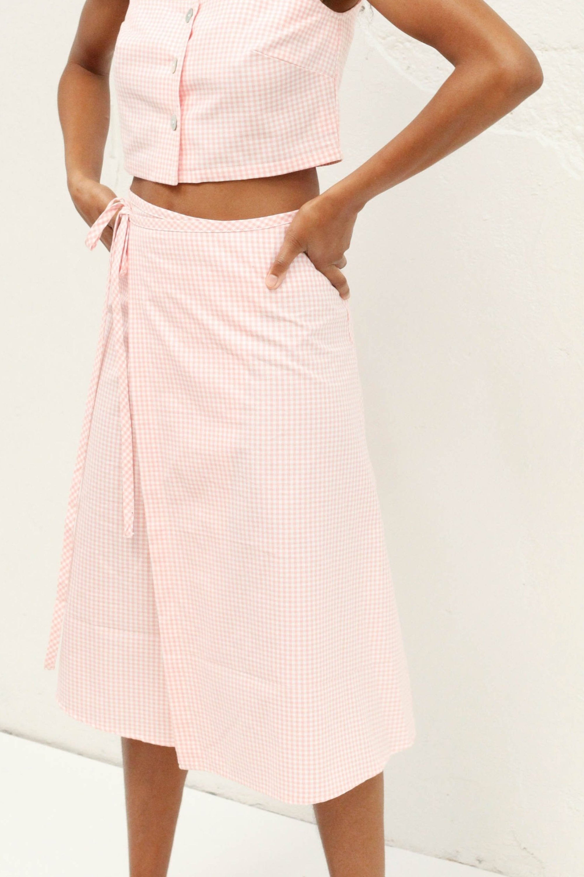 Capri Pink Gingham Skirt by Lisa Says Gah