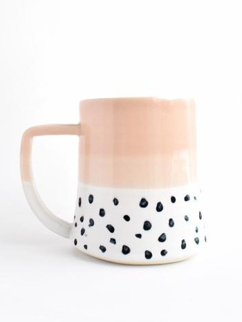 Katie M Mudd Blush + Confetti Mug | Made Trade - Eco-Friendly & Fair Trade Bridesmaids Gifts