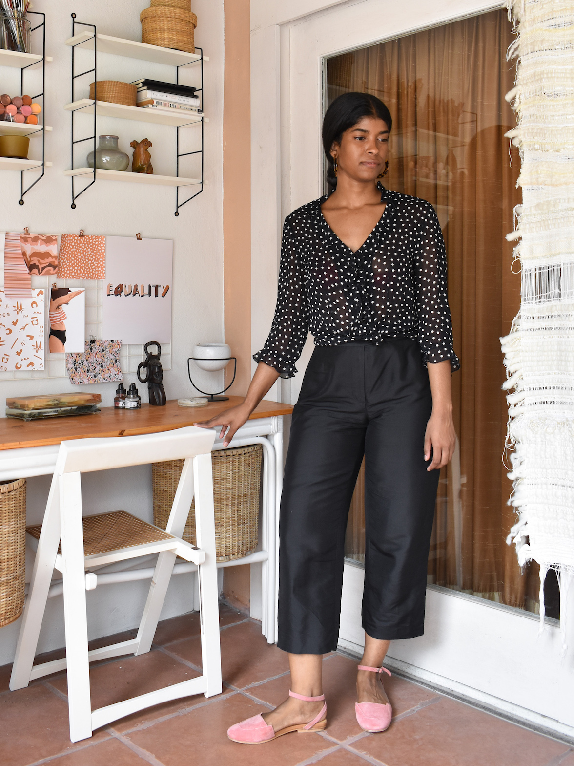 Vintage Polka Dot Blouse // Week Of Outfits With Élan Byrd On The Good Trade