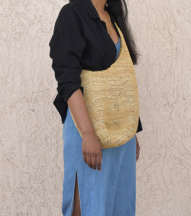 Vintage Straw Bag // Week Of Outfits With Élan Byrd On The Good Trade