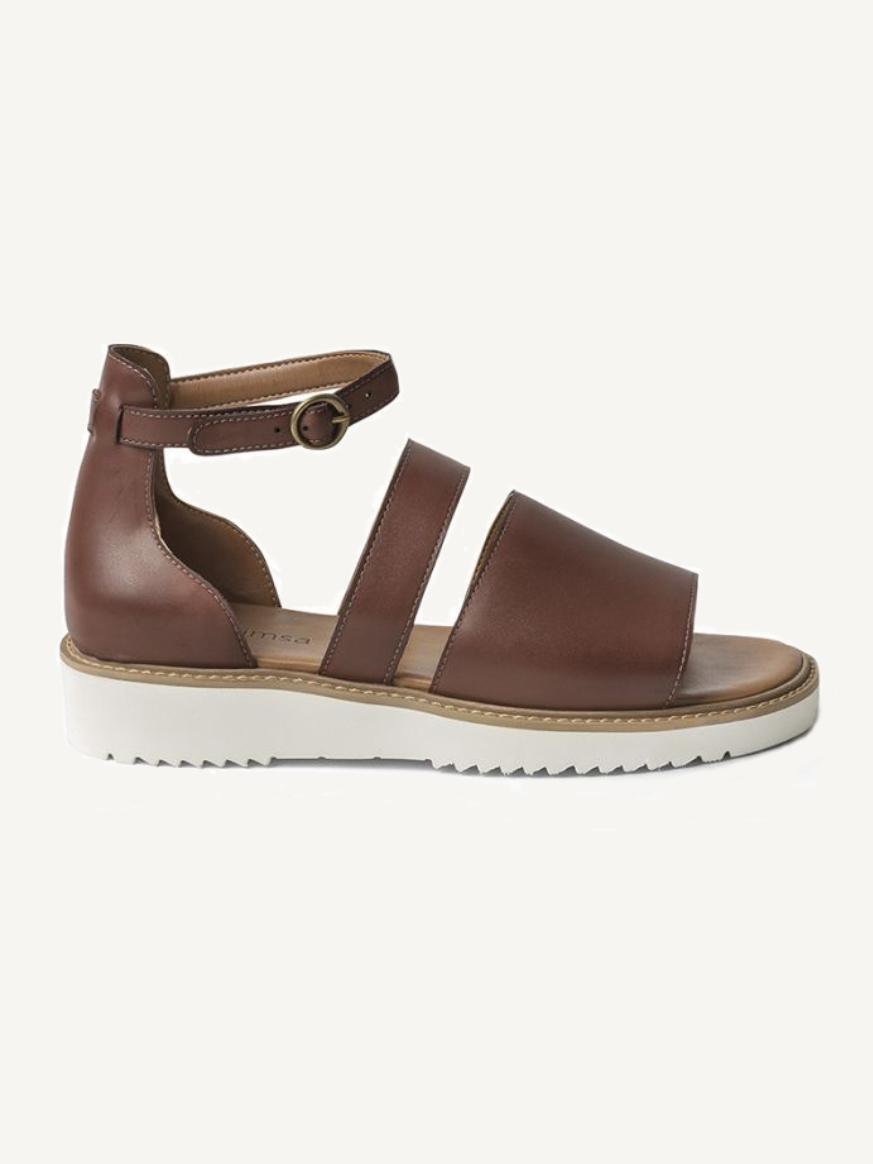 Vegan Sandals // Ahimsa - Telma Cognac Sandals