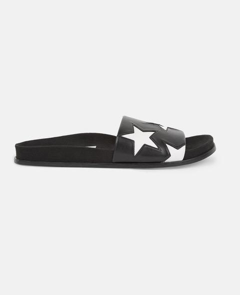 Vegan Sandals // Stella McCartney - B&W Star Slides